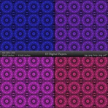 A4 Seamless Cover Lot Jpg Scrapbook Damask Sheet Clip Art Graphics Jpeg Piecing