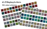 A - Z letters in six colour schemes for display - 156 file