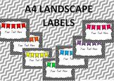 A4 labels {EDITABLE}