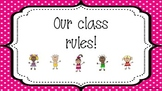 A4 sized WBT Class Rule Posters