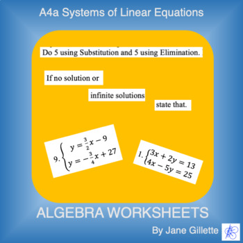 A4a Systems of Equations