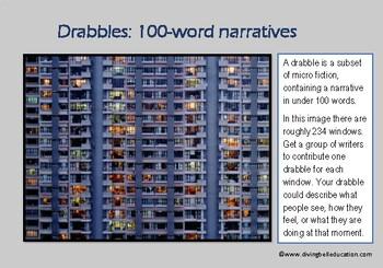 A5 Creative Writing Prompt Card - Drabbles: Ultra-short Narratives