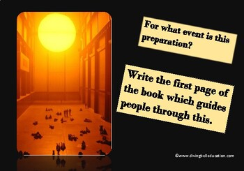 A5 Creative Writing Prompt Card - Great Sun