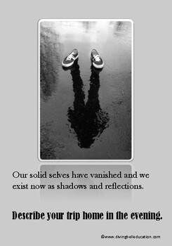A5 Creative Writing Prompt Card - Our Solid Selves have Vanished