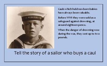A5 Creative Writing Prompt Card - Sailors' Cauls