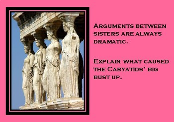 A5 Creative Writing Prompt Card - The Caryatids' Big Bust Up