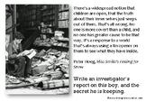 A5 Creative Writing Prompt Card - The Secretive Child