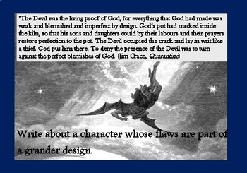 A5 Creative Writing Prompt Card - The flawed character