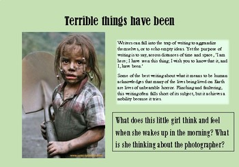 A5 Creative Writing Prompt Card - Writing about terrible things