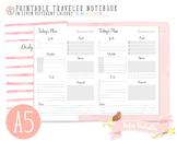 A5 Daily Planner Traveler Notebook Refill