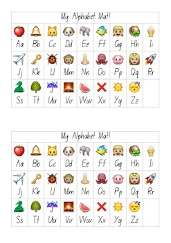 A5 Emoji Alphabet Mat NSW Foundation Print