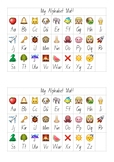 A5 Emoji Alphabet Mat NSW Foundation Print