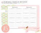 A5 Grocery List Traveler Notebook Refill