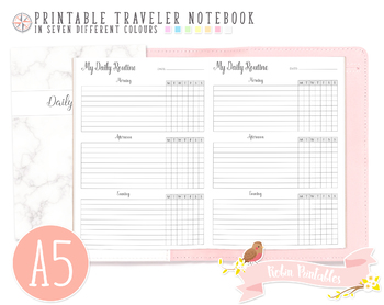 A5 Daily Routine Traveler Notebook Refill