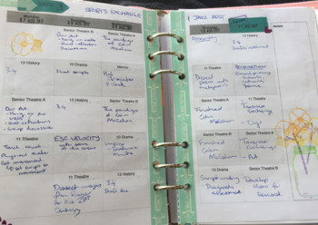 A5 Classroom Planner Inserts - Daily and Weekly layouts