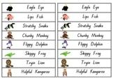 A5 Reading Buddies Bookmarks {decoding Strategies}. Animal Buddies