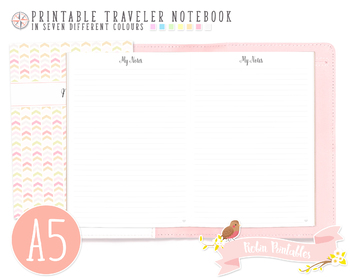 A5 Ruled Notes Traveler Notebook Refill