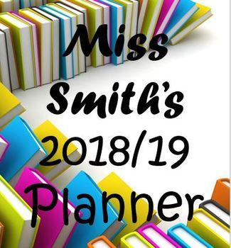 A5 Teacher's Planner (Fully Editable) - Updated for 2018