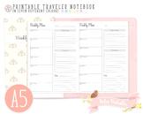 A5 Weekly Planner Traveler Notebook Refill