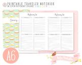 A6 Grocery List Traveler Notebook Refill
