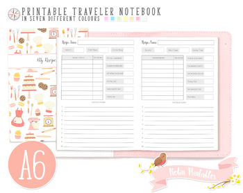 A6 My Recipe Traveler Notebook Refill