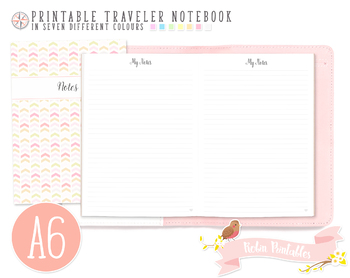 A6 Ruled Notes Traveler Notebook Refill