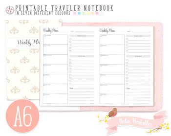 A6 Weekly Planner Traveler Notebook Refill