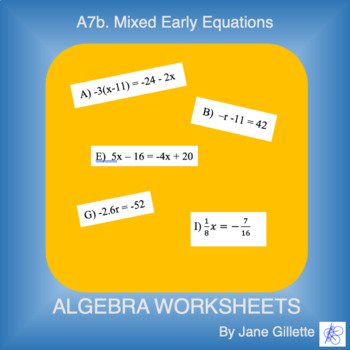 A7b Mixed Early Equations