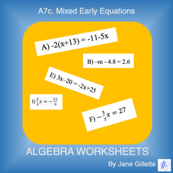 A7c Mixed Early Equations