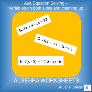 A9a Equation Solving - Var both sides and cleaning up