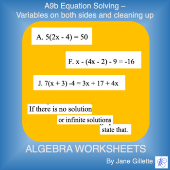 A9b Equation Solving - Var both sides and cleaning up