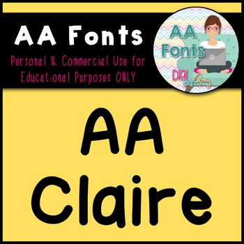 AA Claire - AA Fonts for Commercial and Personal Use