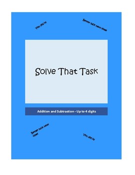 Solve that Task Math Game - Addition and Subtraction - Up to 4 Digits