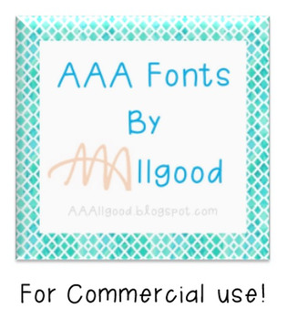 AAA Fonts for Commercial License