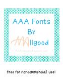 AAA Free Fonts