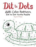 AAB Color Linear Pattern Dot to Dot Turtle Math Activity