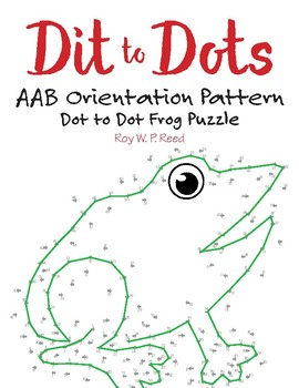 AAB Orientation / Direction Linear Pattern Dot to Dot Frog Math Activity