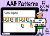 AAB Patterns ~ BOOM Cards ~ Distance Learning