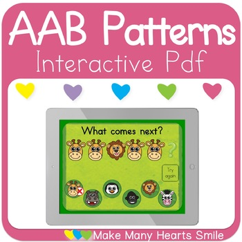 AAB Patterns Zoo Animals Interactive Pdf