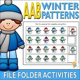 AAB Winter Pattern File Folder Activities