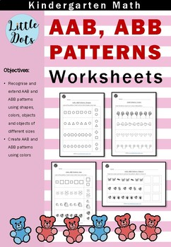 AAB and ABB Patterns Worksheets for Kindergarten