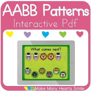 AABB Patterns Zoo Animals Interactive Pdf