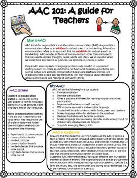 AAC 101: A Resource for Classroom Teachers