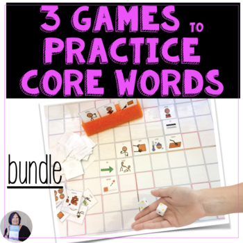 AAC Core Vocabulary 3 Games Bundle for Speech Therapy or Special Education
