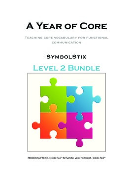 AAC A Year of Core Level 2 Bundle: SYMBOLSTIX - Word of the Week Speech Program