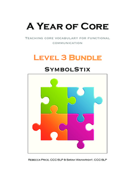 AAC A Year of Core Level 3 Bundle: SYMBOLSTIX - Word of the Week Speech Program