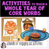 AAC Activities and Games for a WHOLE Year of Core Words BUNDLE