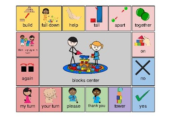 AAC - Aided Language Communication Board for Blocks Play Center