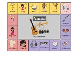 AAC - Aided Language Communication Board for Music Center