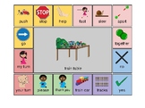 AAC - Aided Language Communication Board for Train Table Center